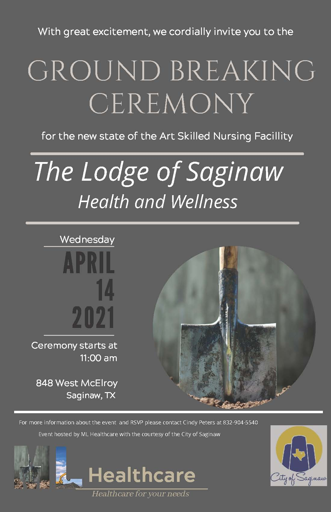 The Lodge groundbreaking flyer